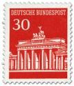Stamp: Brandenburger Tor 30 (Rot)