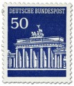 Stamp: Brandenburger Tor 40 Marineblau