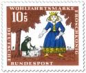 Stamp: Froschkönig: Frosch am Brunnen mit Prinzessin