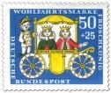 Stamp: Froschkönig: Kutsche mit Prinzessin und Prinz