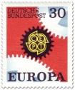 Stamp: Europamarke 1967 (Zahnräder, 30)