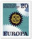 Stamp: Europamarke 1967 (Zahnräder)