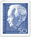 Stamp: Heinrich Lübke (Bundespräsident, 50)