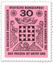 Stamp: Kreuz - Frieden unter uns (ev. Kirchentag 1967)