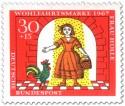 Stamp: Tochter mit Gold überschüttet (mit Hahn)