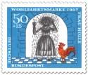 Stamp: Mädchen mit Pech überschüttet