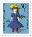 Stamp: Blaue Puppe Um 1885