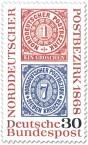 Stamp: Briefmarken: 100 Jahre Norddeutscher Postbezirk