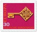 Stamp: Europamarke 1968 (Schlüssel, 30)