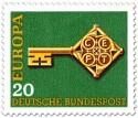 Stamp: Europamarke 1968 (Schlüssel)
