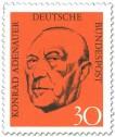 Stamp: Konrad Adenauer Portrait