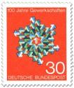 Stamp: Pfeile Stern 100 Jahre Gewerkschaften