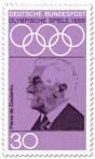 Stamp: Pierre de Coubertin (Begründer Olympische Spiele Neuzeit)