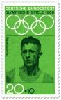 Stamp: Rudolf Harbig ( Mittelstreckenläufer)