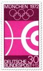 Stamp: Bogenschießen / Pfeil und Kreise