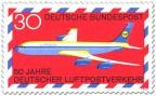 Stamp: Boing 707 Lufthansa