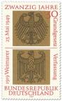 Stamp: Bundesadler und Reichsadler auf Gold