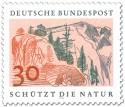 Stamp: Hochgebirge mit Felsen