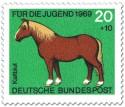 Stamp: Kaltblut Pferd