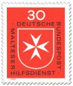 Stamp: Malteserkreuz (Logo Malteser Hilfsdienst)