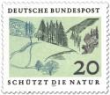 Stamp: Mittelgebirge mit Tannen