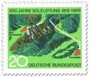 Stamp: 350 Jahre Soleleitung (Bad Reichenhall - Traunstein)