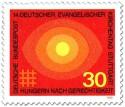 Stamp: Sonne,  Hunger nach Gerechtigkeit (ev. Kirchentag Stuttgart)