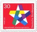 Stamp: Stern (Internationale Arbeiterorganisation IAO)