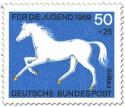 Stamp: Vollblut Pferd (Weiss)