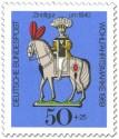 Stamp: Zinnfigur um 1840 - Reiter auf Pferd