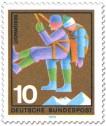 Stamp: Bergwacht: Abseilen eines Verunglückten