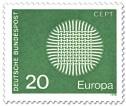 Stamp: Europamarke 1970 (Flechtwerk als Sonne)