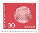 Stamp: Europamarke 1970 (Flechtwerk als Sonne, 30)