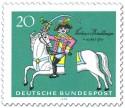 Stamp: Freiherr Baron von Münchhausen (auf durchtrenntem Pferd)