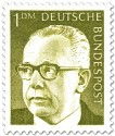 Stamp: Gustav Heinemann (1 DM)