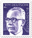 Stamp: Gustav Heinemann (2 DM)