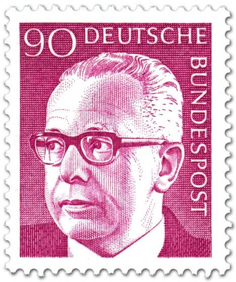 Stamp: Gustav Heinemann (90)