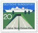 Stamp: Tunnel und Passagierschiff (75 Jahre Nord-Ostsee-Kanal)