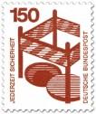 Stamp: Absperrung um offenen Gulli - Sturzgefahr