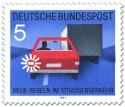 Stamp: Auto fahren: Blinken vor dem Überholen