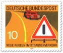 Stamp: Autopanne: Warndreieck und Warnblinklicht