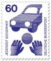 Stamp: Ball spielendes Kind und Auto
