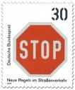 Stamp: Briefmarke: Stopschild