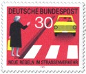Stamp: Fußgänger am Zebrastreifen mit Handzeichen