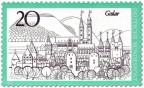 Stamp: Goslar - Stadtansicht mit Kaiserpfalz