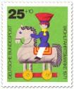 Stamp: Holzspielzeug: Pferd und Reiter