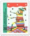 Stamp: Kinderbild: Floh