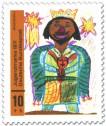Stamp: Kinderbild: Mohrenkönig