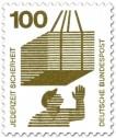 Stamp: Lastkran - schwebende Gefahr
