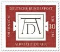 Stamp: Monogramm AD - 500. Geburtstag von Albrecht Dürer